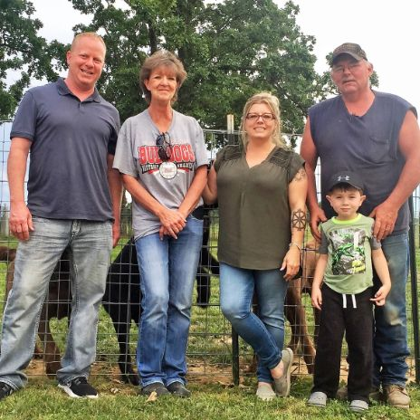 Frank Mineo Jr. & Animal Health Dir. Michelle L. With Stacie And Her Family