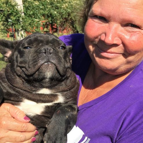 Susie and one of her bulldogs