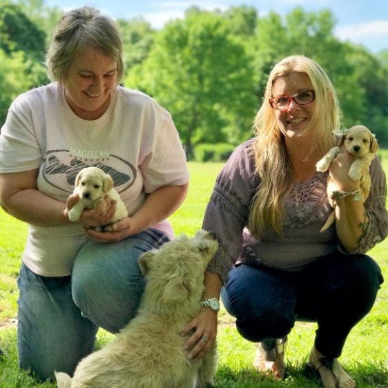 Vickie With Animal Kingdom and Puppies\'N Love Animal Health Director Michelle L.