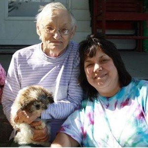Arminta with her mother and one of her Shih Tzus