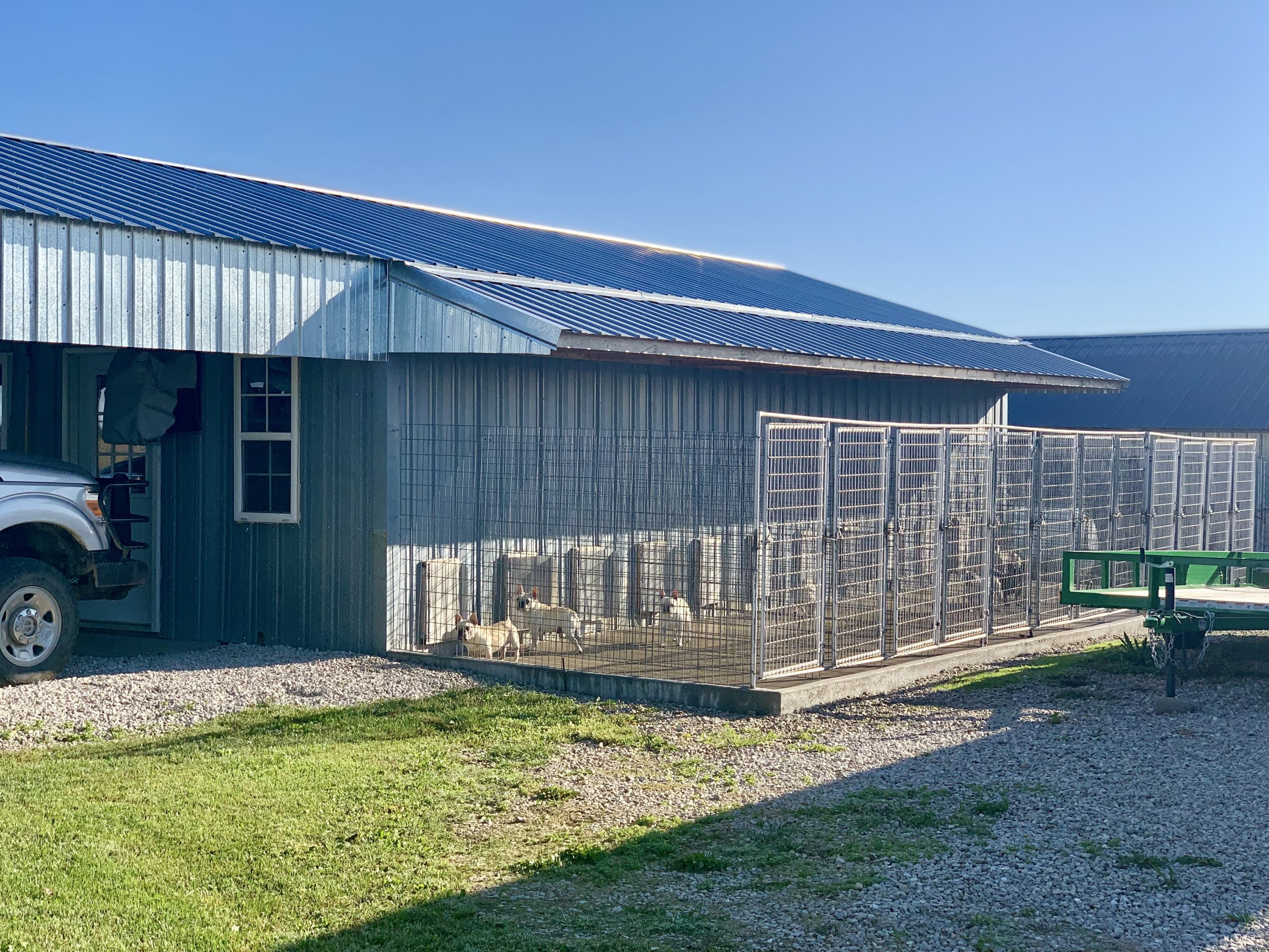 Exterior view of Kim's kennel