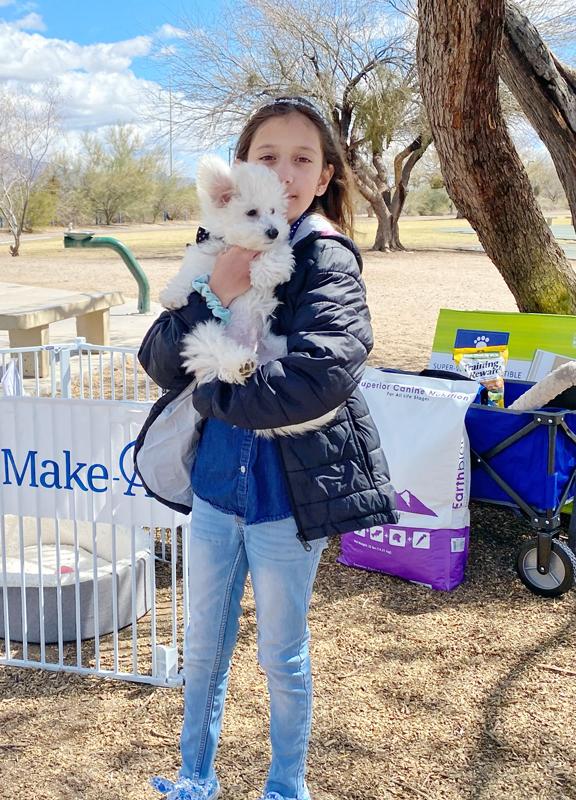 Marley on adoption day