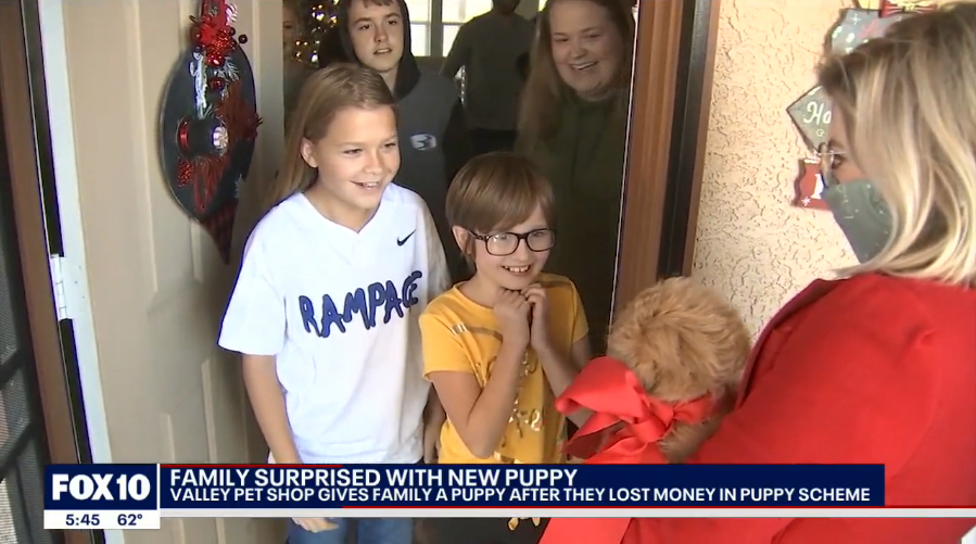 West Valley Family Receives A Puppy Surprise Puppies Animal Kingdom Arizona